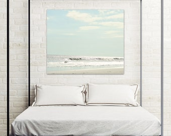 coastal canvas art, coastal wall art canvas, beach canvas print, beach canvas art, gallery canvas, beach wall art, light blue wall art