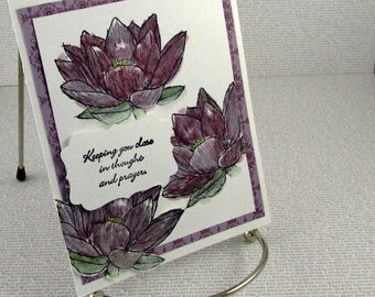 Encouragement Card Handmade Sympathy Card of Comfort Praying For You Card Thinking of You Get Well In My Thoughts Card Recovery
