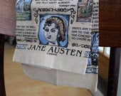 Vintage Jane Austen Hand Towel, Dish Towel, Literary Quotes