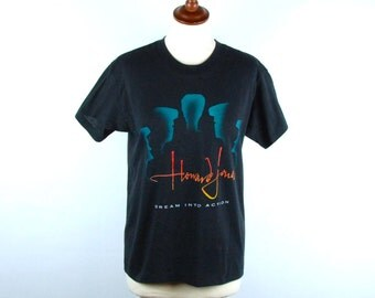 1985 Howard Jones Tour Tee, Synth Pop, Dream into Action, Howard Jones T-Shirt