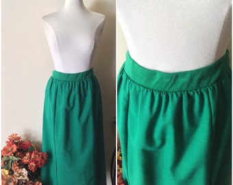 Issac Hazan Skirt // Green Skirt