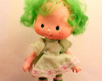 Vintage Strawberry Shortcake Doll Lime Chiffon Curled Hands 1979 Second Edition American Greetings