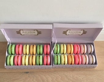 Assorted Box Of 12 Macarons Trinket Boxes