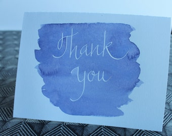 Thank You watercolor note card