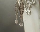 Great Gatsby Earrings - 1920s Jewelry - Vintage Style Wedding -  Downton Abbey - Art Deco Earrings - Womens Jewelry - Miss Fisher