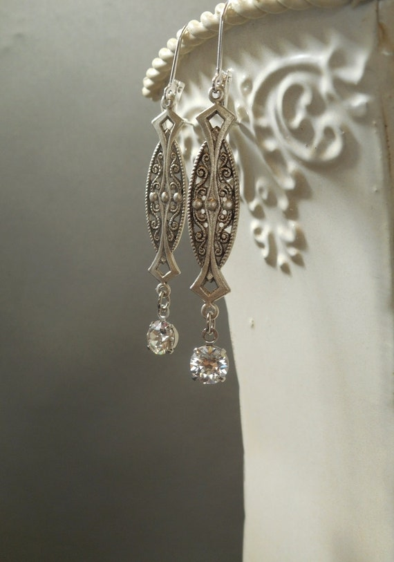 great gatsby earrings 1920s jewelry vintage style wedding