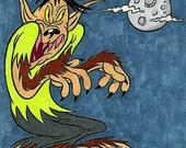 Werewolf Drawing (Inktober/Drawlloween 2015)