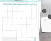 2017 CALENDAR - Clean Mama's EVERYDAY Calendar- Jan-Dec 2017 - Editable/Fillable, standard and half size - Instant Download
