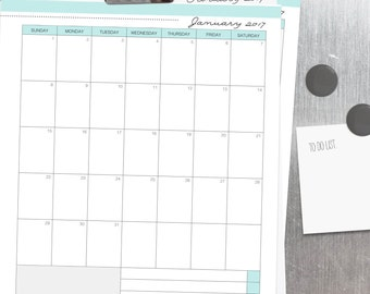 2017 CALENDAR - Clean Mama's EVERYDAY Calendar- Jan-Dec 2017 - Editable/Fillable, standard and half size - Instant Download