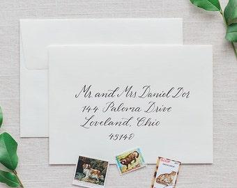 Wedding Calligraphy Envelope Addressing - Modern Calligraphy - Wedding Invitations - Cannon Beach Style
