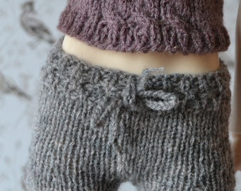 Hand-knitted rosey grey shorts for Slim SD, Supia, SD13 etc.