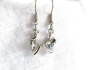 Ice Skates Earrings Silver Earrings Dangle Earrings Drop Earrings Sport Earrings Charm Earrings Skating Earrings