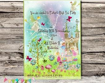 Unicorns & Fairies High Tea - Birthday Party or Wedding Invitation - Printable - DIY - Digital File