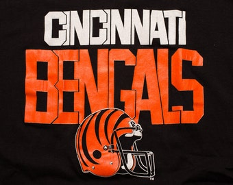 Cincinnati Bengals T-Shirt, NFL Ohio Team Apparel, Trench, Vintage 80s