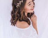 gold leaf crown // gold leaf flower crown / gold leaf headband / simple minimalist gold headpiece fascinator, spring racing, wedding bridal