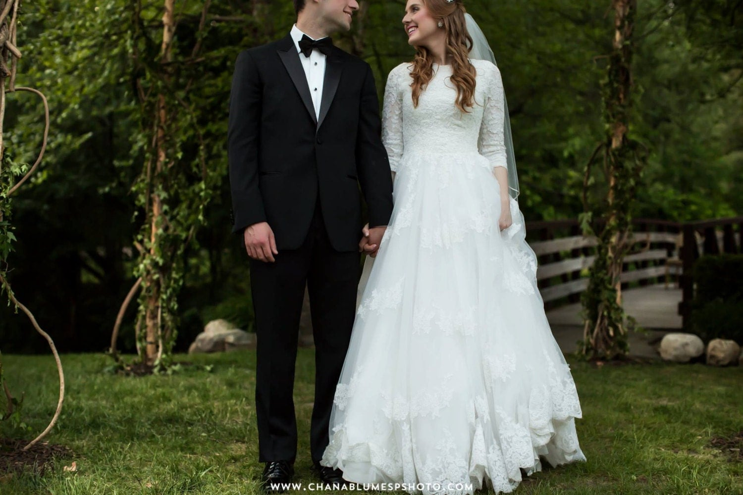 Modest Wedding Dress With Sleeves And By WeddingDressFantasy
