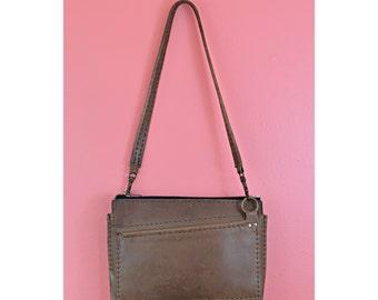 MARKED DOWN! VTG Brown Italian Leather Shoulder Bag