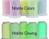 NiteLite Glow-in-the-dark sewing quilting embroidery thread by Superior Threads
