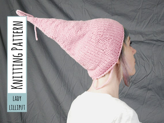 PATTERN Knitted Pixie Hat or Night Cap