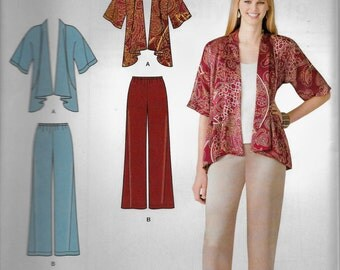 Simplicity 2119 It's so Easy drape jacket wide leg  Pants Size 10 to 18  UNCUT