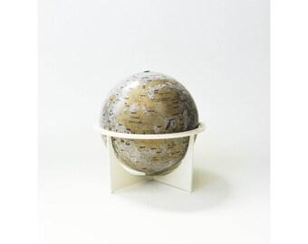 Mid Century Tin Moon Globe / Replogle