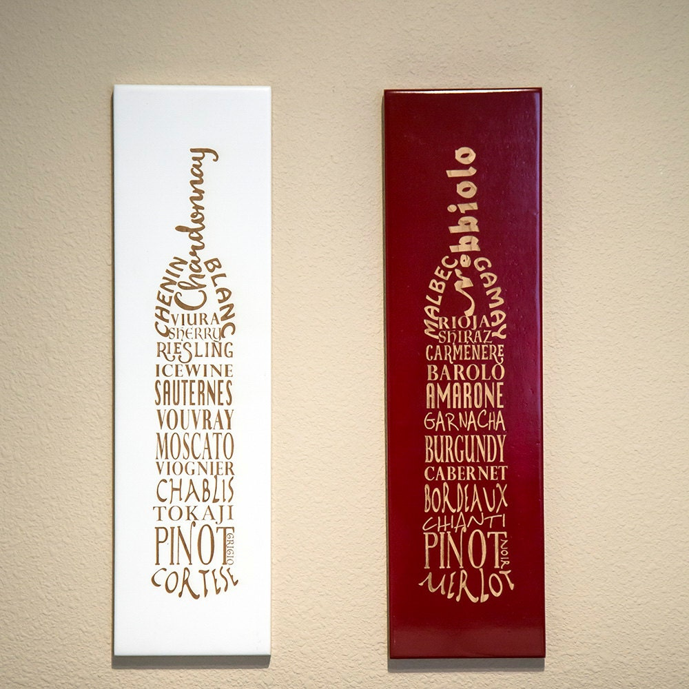 Wine bottle decor kitchen decor kitchen wall decor wine for Red kitchen wall art