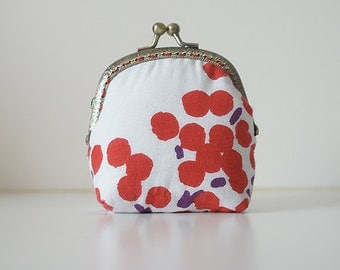 Coin Purse // Cherries // White and light red