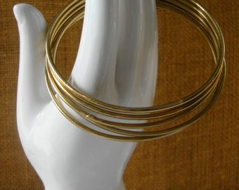 5 VINTAGE BRACELETS Gold Bracelets 5 Bangle Stack Bracelets Boho Set Bracelets GOLD Bracelets Fashion Stack Bracelet