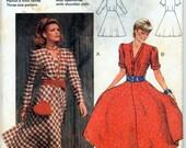 Vintage Dress in Two Versions Sewing Pattern - Burda 9139 - Sizes 8-10-12 - (34-36-38) - UNCUT