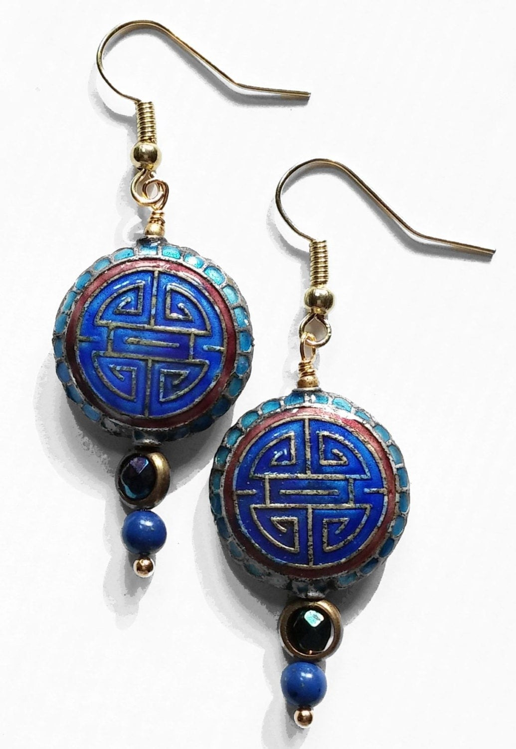 cloisonne style earrings