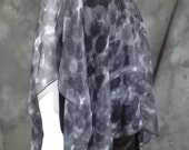 Dark and light Grey Summer Silk Poncho o/s
