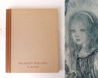 1946 Sulamith Wulfing book / Von Engeln IX Band 9  A Song of Children / Angels and Blossoms 10 Copper Gravure Panels complete