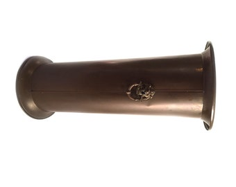 Vintage Brass Lion Head Umbrella or Cane Stand