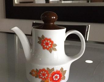 Mid Century Mitterteich Coffee Pot/PorcelainTeapot / Mitterteich Bavaria Teapot/ Made In Germany/Retro Teapot/Porcelain Teapot/By Gatormom13
