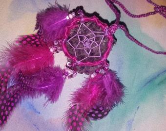 Hand Woven Dream Catcher Necklace