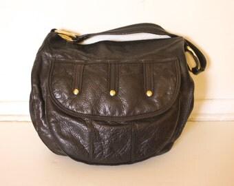 Vintage Olsen Leather Hobo Bag