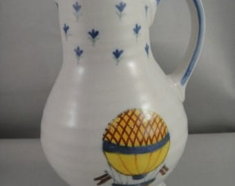 Pitcher Small with Hot Air Balloon Design Ceramic