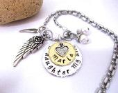 FLASH SALE TODAY Daughter Memorial Jewelry, Daughter Memorial Necklace, My Daughter My Angel, Daughter Bereavement, Loss of Daughter, Daught