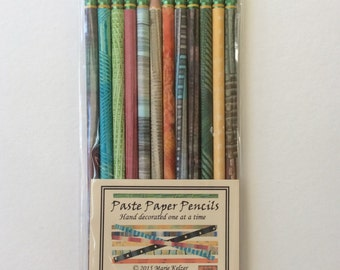 Hand Painted Pencils - set of 12