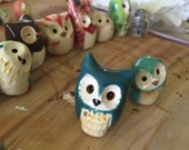 RESERVED for MICHELE McFarlane- 1 teal owl l: Harry Potter Inspired Owlery Clay Miniatures and Totems