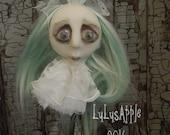 Ghostly Glenna Ornament hanging doll head Halloween Art Doll OOAK LuLusApple