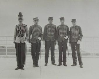 Vintage Photo -  Men Wearing Soldiers Costumes