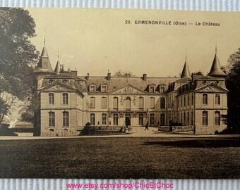 Unused Postcard -  Château at Ermenonville, Oise, France