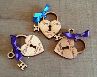 215 Heart and Skeleton Key Wedding Favors