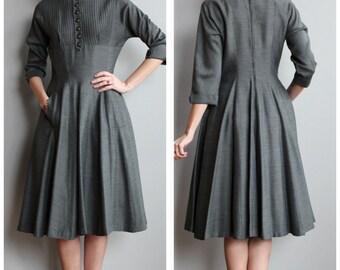 1950s Dress // Fifth Floor Dress // vintage 50s dress