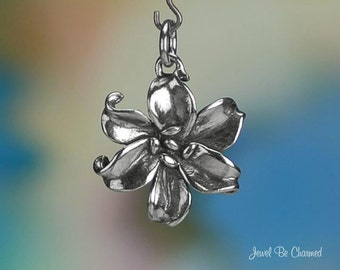 Sterling Silver Daylily or Lily Charm Garden Flower Lilies Solid .925