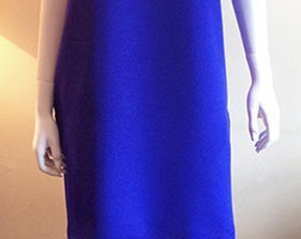 Silk Crepe Beach Dress - Marine Blue