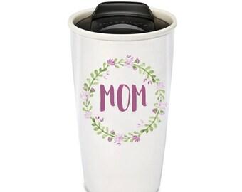 Ceramic Travel Mug, Mother's Day Mug, Mom Gifts, Mom Mug, Motherhood, Mother's day gift, gifts for mom, mothers day tumbler, motherhood mugs