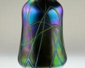 Iridescent Hand Blown Art Glass Vase - by Eric W. Hansen