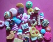 Sale sale--kawaii decoden cabochon sweets mix  # 76  more than 30 pcs---USA seller